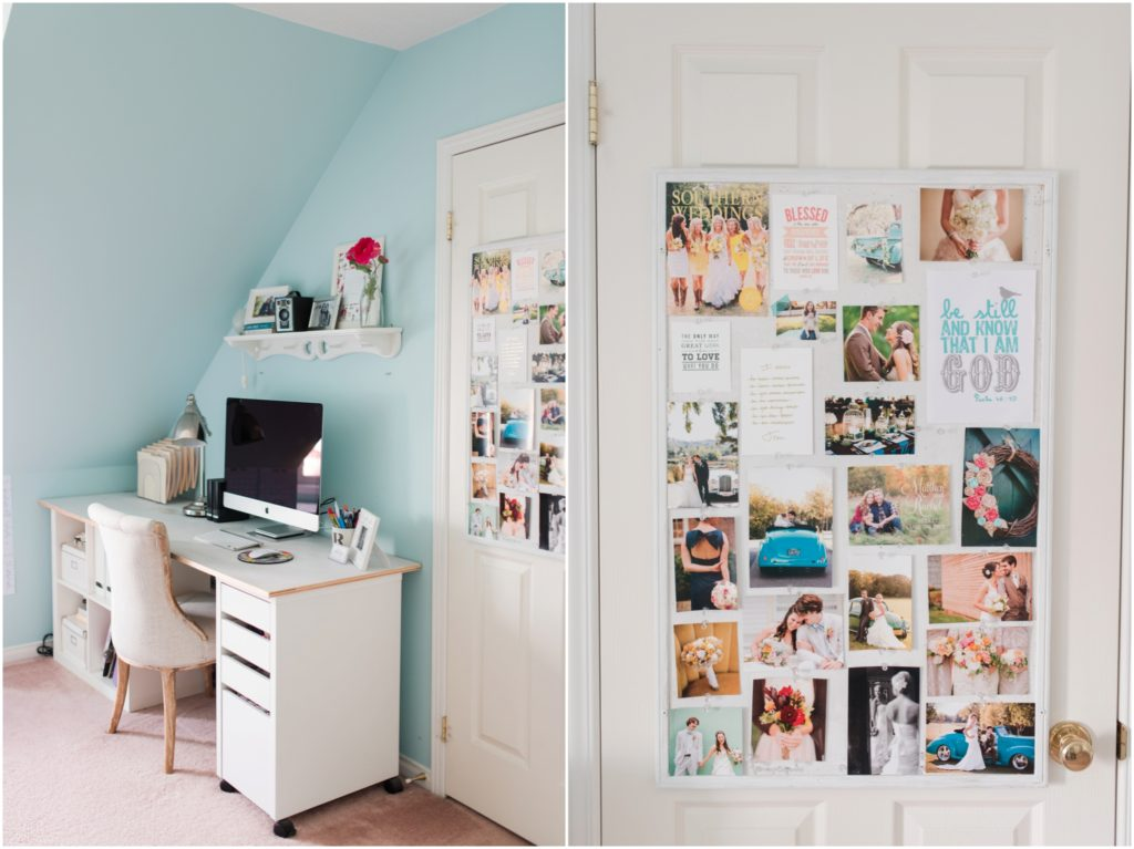 light blue home office photographer
