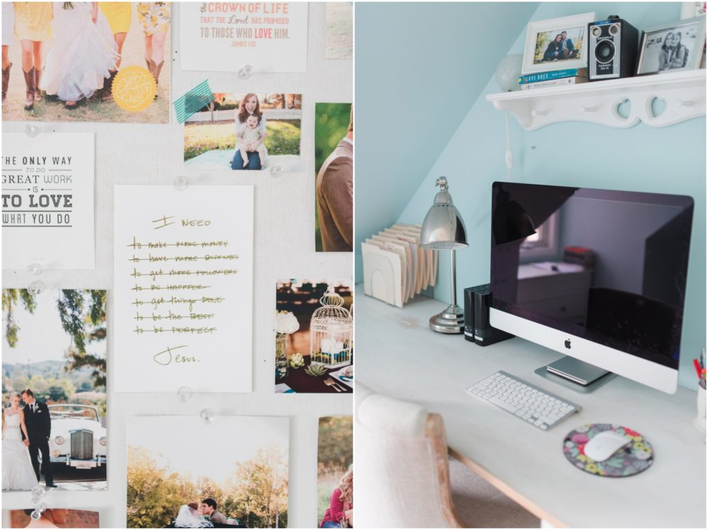 photographer home office teal